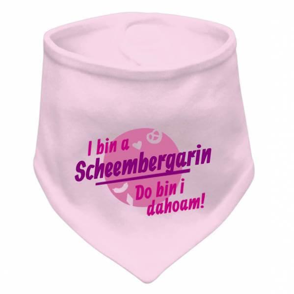 "Dreieckstuch ""Do bin i dahoam"" pink mit Wunschname"