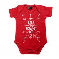 Baby Body 'Papa, du schaffst des!' rot - Größe: 74 (12 - 18 Monate)