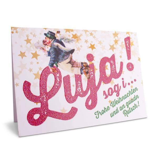 """Weihnachtskarte """"Luja sog i!"""""""