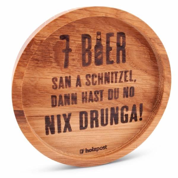 """Holz-Untersetzer """"7 Bier"""""""