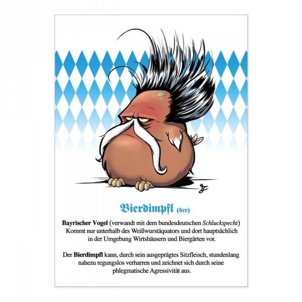 Postkarte 'Bierdimpfl'