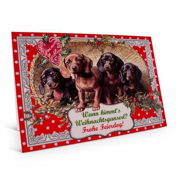 """Weihnachtskarte """"Weihnachtsganserl"""""""