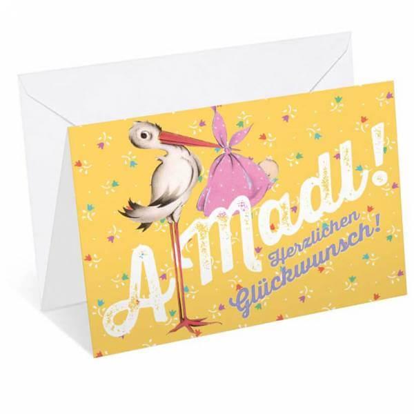 "Glückwunschkarte ""A Madl"""