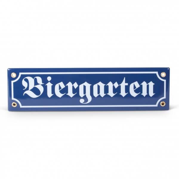 Emaille-Schild 'Biergarten'