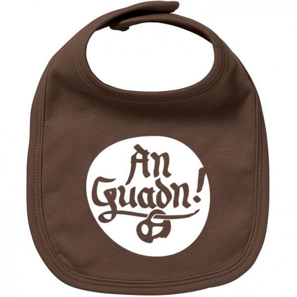 """Babylätzchen """"An Guadn"""" braun"""