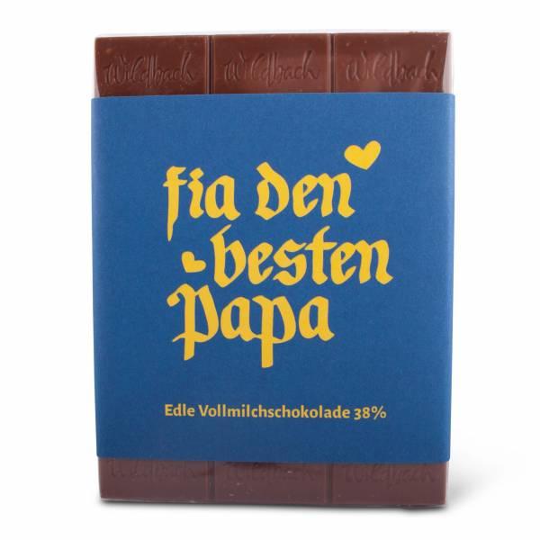 """Schokolade """"Fia den besten Papa"""""""