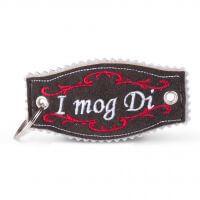 Hirschleder-Schlüsselanhänger 'I mog Di'