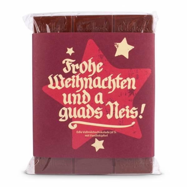 """Bayerische Schokolade """"Frohe Weihnachten"""""""