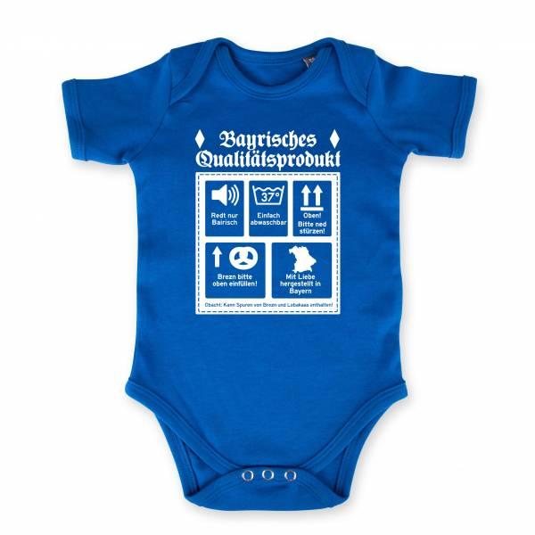 """Baby Body """"Bayrisches Qualitätsprodukt"""" blau"""