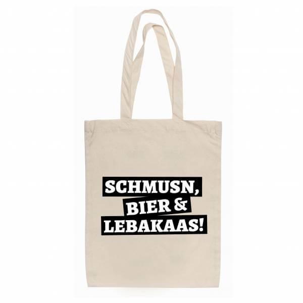 """Tasche """"Schmusn, Bier & Lebakaas"""""""