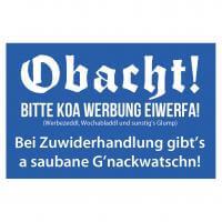 Briefkastenaufkleber 'Koa Werbung'
