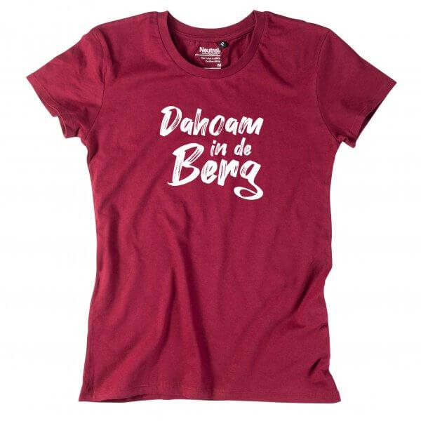 """Damen-Shirt """"Dahoam in de Berg"""""""