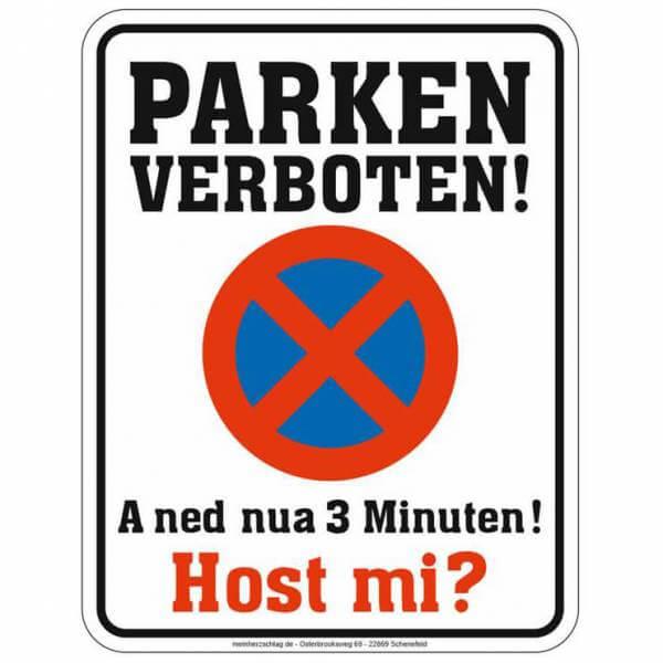 """Parkschild """"Parken verboten!"""""""
