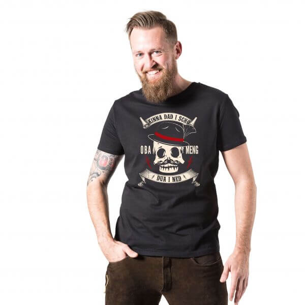 Herren-Shirt 'Kinna dad i scho' - Größe XXXL