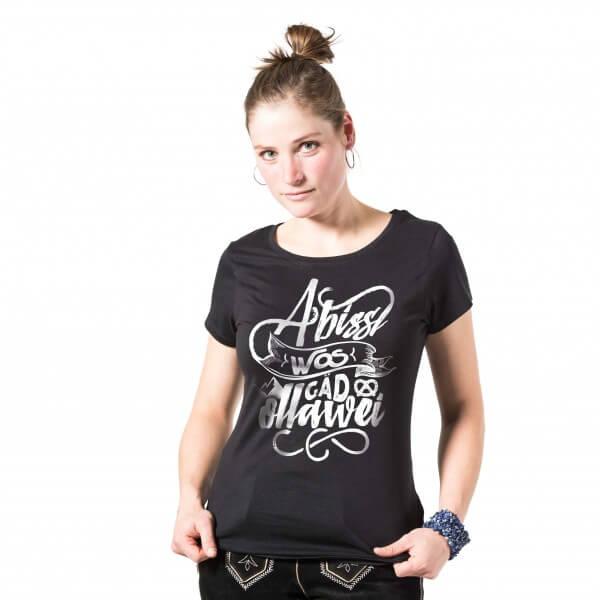 Damen-Shirt 'A bissl wos gäd ollawei' - Größe XXL