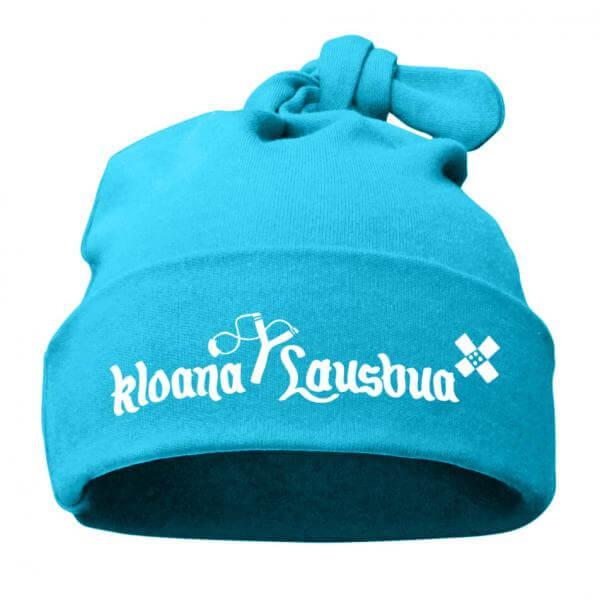 "Babymütze ""Kloana Lausbua"" türkis"