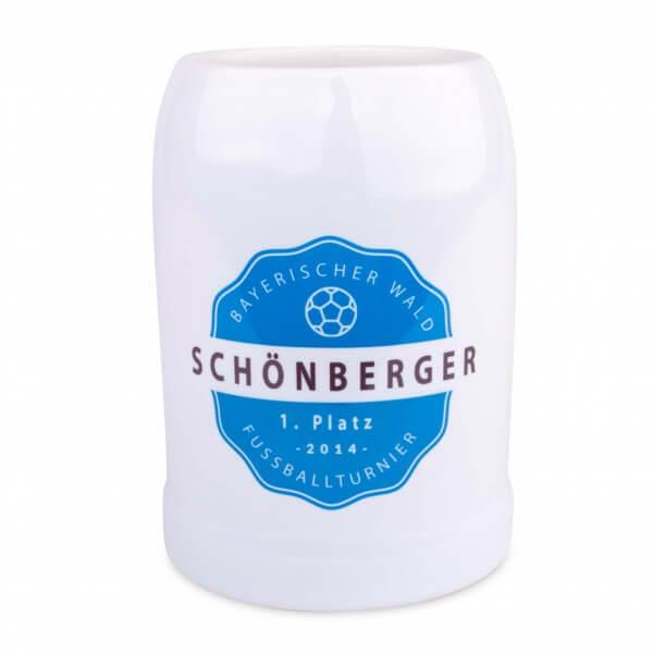 Bierkrug mit Wunschdruck / Logo
