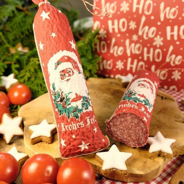 """Bayerischer Salami-Nikolaus """"Frohes Fest"""""""