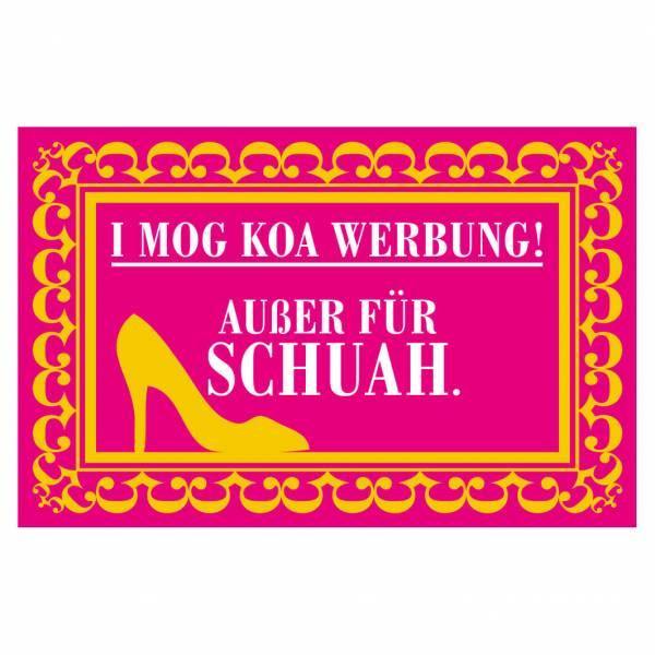 """Briefkastenaufkleber """"Nur Werbung für Schuah!"""""""