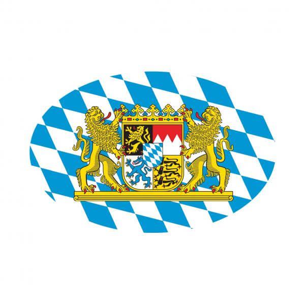 Aufkleber oval 'Bayerisches Wappen'