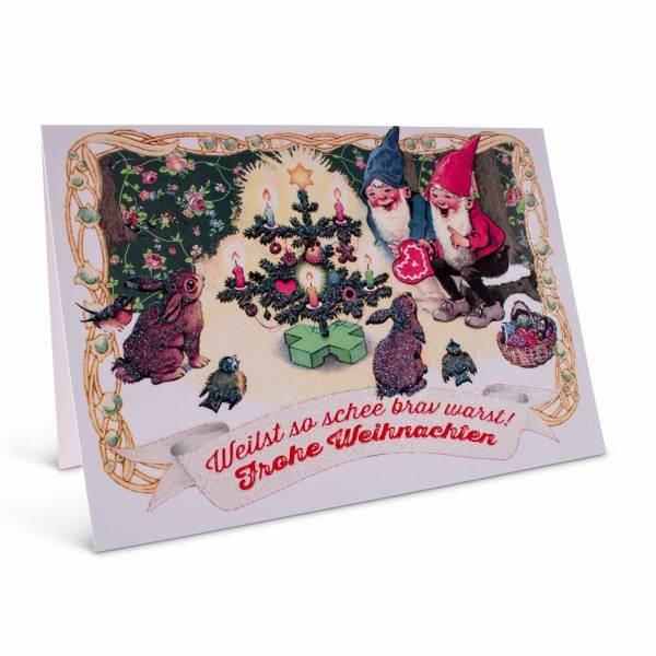 """Weihnachtskarte """"Weilst so schee brav warst!"""""""