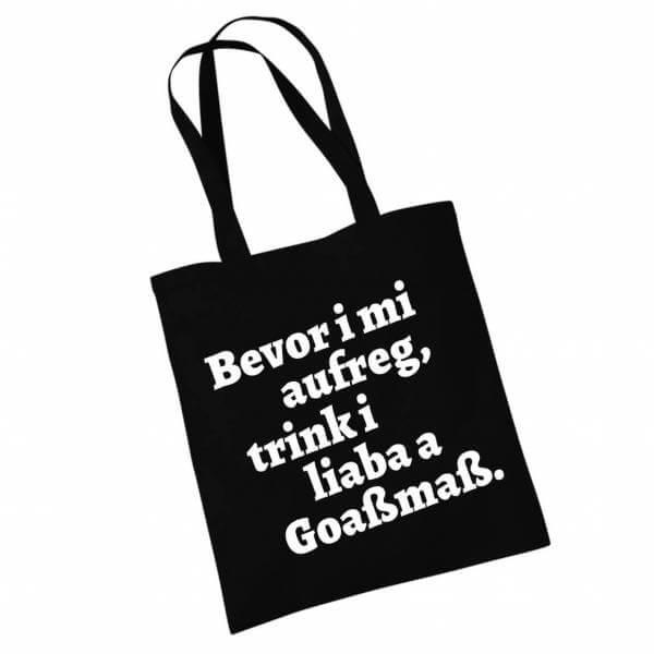 """Stofftasche """"Goaßmaß"""" schwarz"""