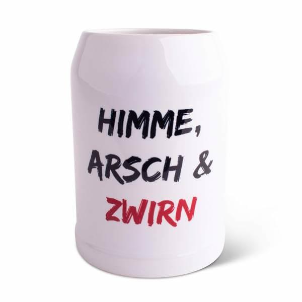 """Bierkrug """"Himme, Arsch & Zwirn"""""""
