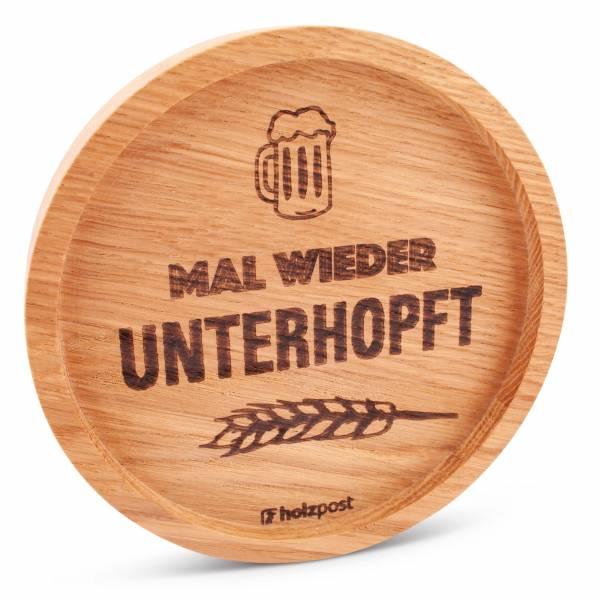"""Holz-Untersetzer """"Unterhopft"""""""
