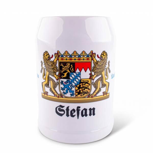 """Bierkrug """"Wappen""""mit Wunschnamen"""