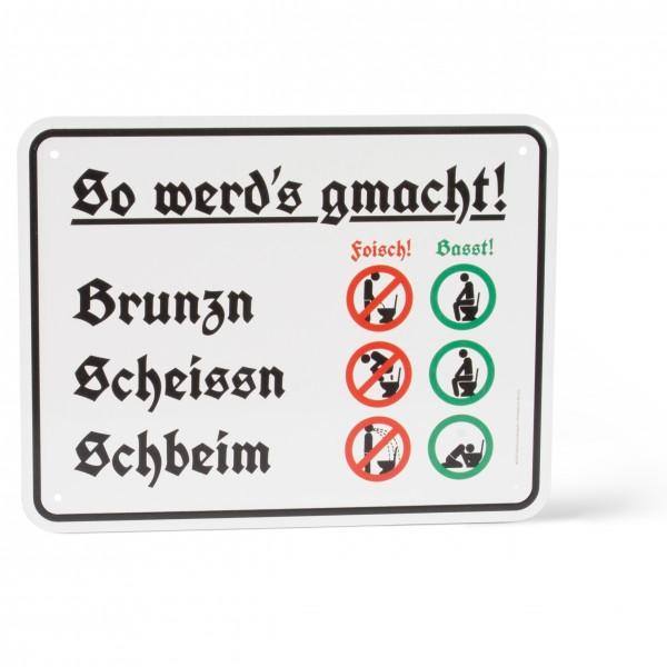 Blechschild 'Scheisshausregeln'