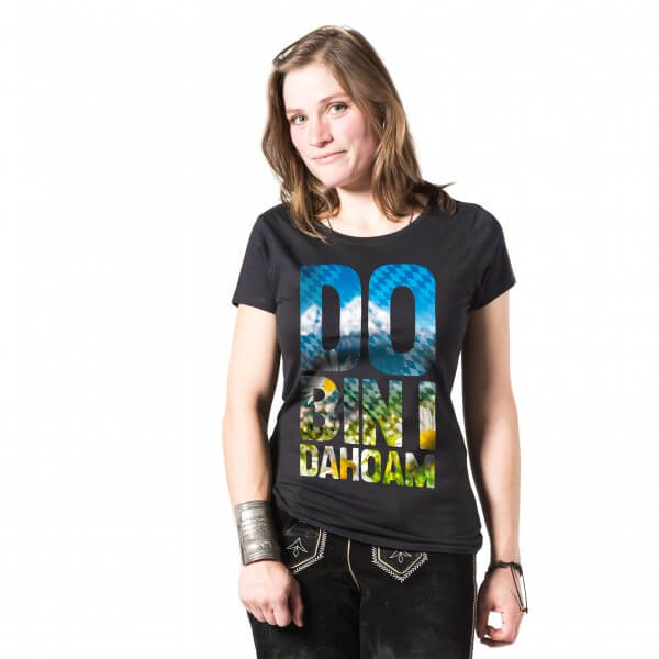 "Damen-Shirt ""Do bin i dahoam"""