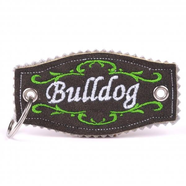"""Hirschleder-Schlüsselanhänger """"Bulldog"""""""
