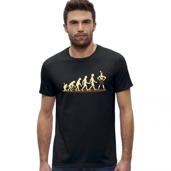 Männer-Shirt 'Boarische Evolution' - Größe XXL