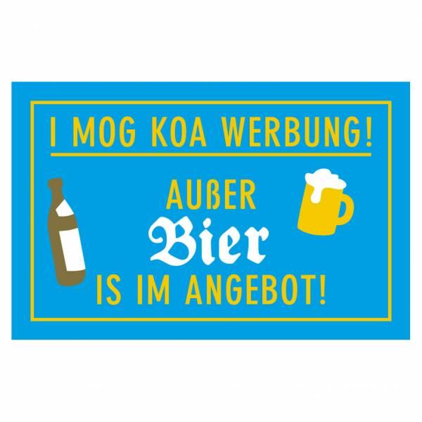 """Briefkastenaufkleber """"Bier im Angebot"""""""