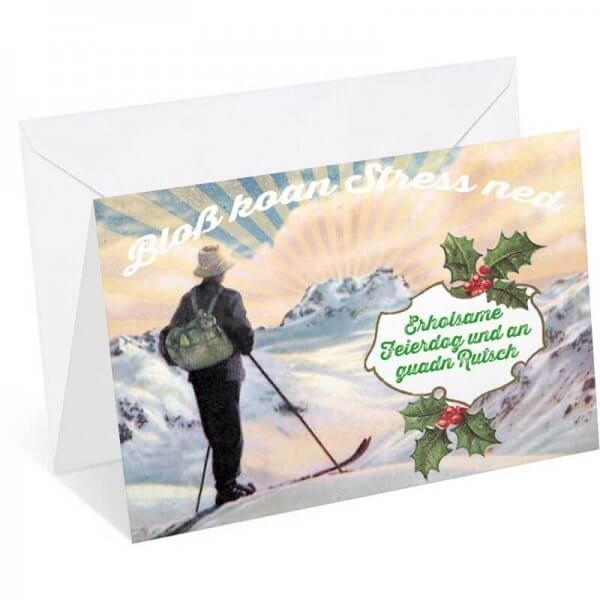 """Weihnachtskarte """"Erholsame Feierdog"""""""