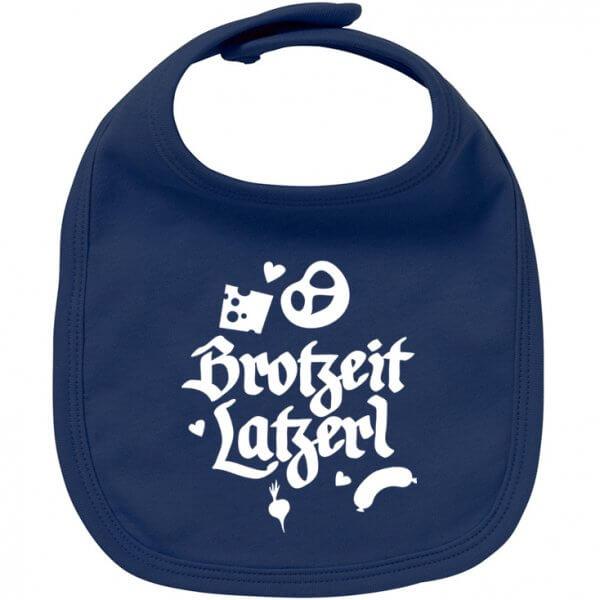 """Babylätzchen """"Brotzeit Latzerl"""" marine"""