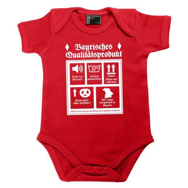 """Baby Body """"Bayrisches Qualitätsprodukt"""" rot"""