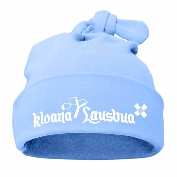 "Babymütze ""Kloana Lausbua"" hellblau"