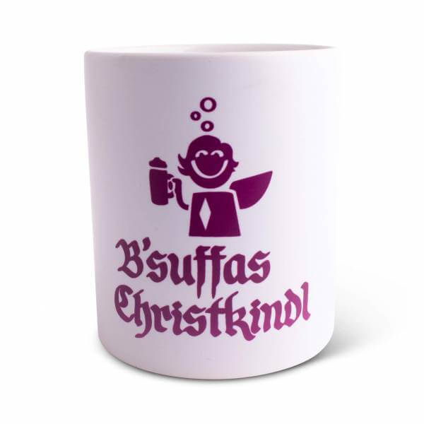 """Weihnachtstasse """"B'suffas Christkindl"""""""