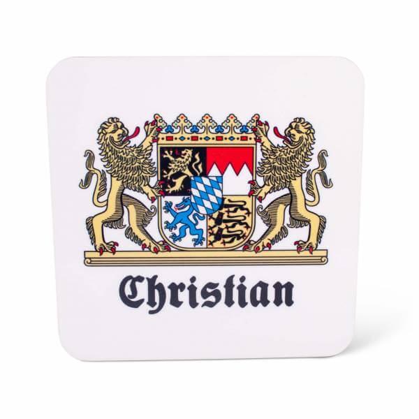 """Untersetzer """"Wappen"""" mit Wunschname"""