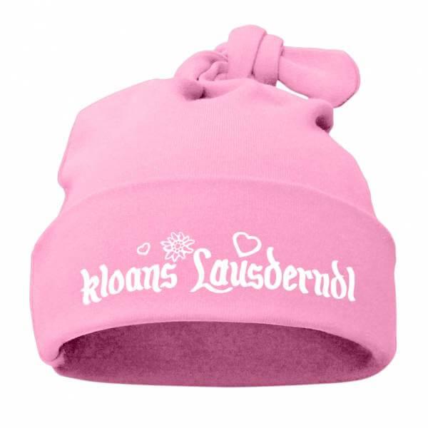 """Babymütze """"Kloans Lausderndl"""" rosa"""
