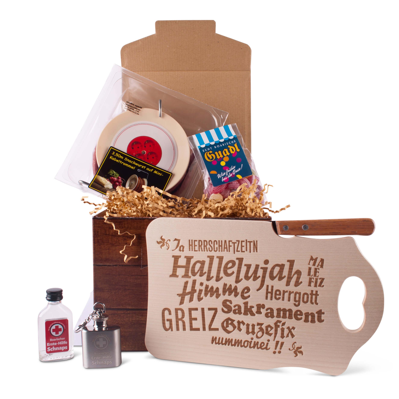 geschenkbox bayerische notfallbox geschenke aus bayern. Black Bedroom Furniture Sets. Home Design Ideas
