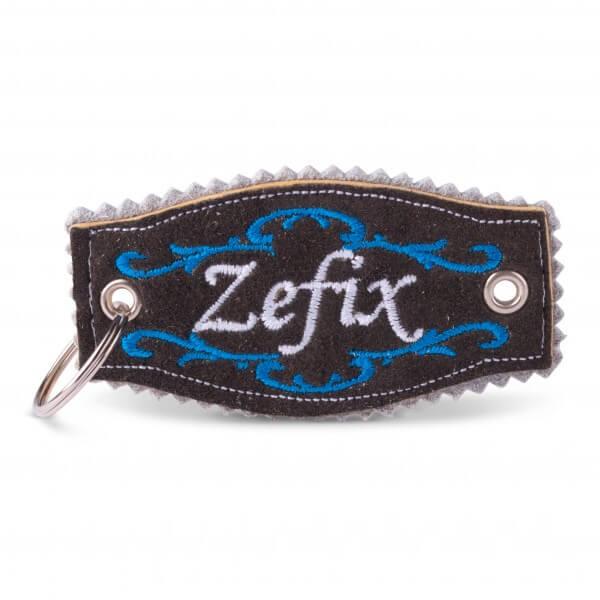 Hirschleder-Schlüsselanhänger 'Zefix'