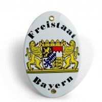 Emaille-Schild 'Freistaat Bayern'