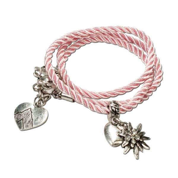 """Wickelarmband """"Edelweiß"""" rosa"""