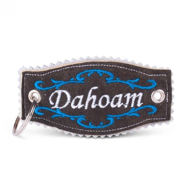 Hirschleder-Schlüsselanhänger 'Dahoam'