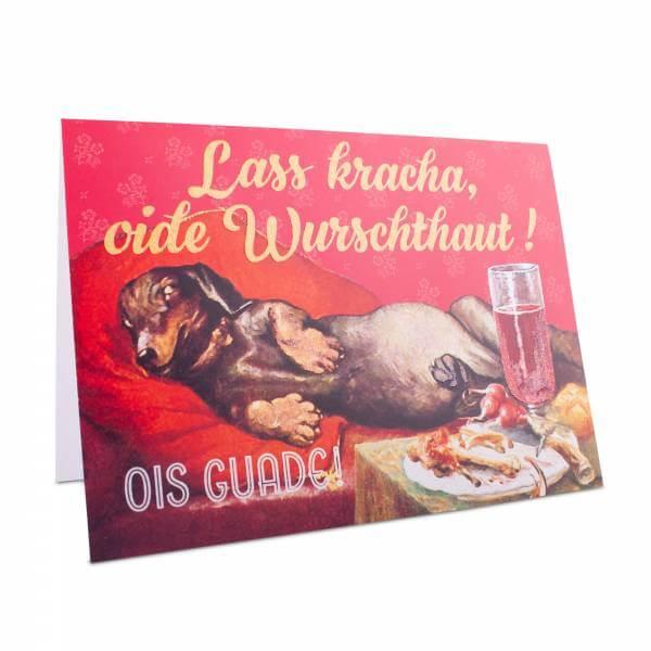 """Glückwunschkarte """"Oide Wurschthaut!"""""""
