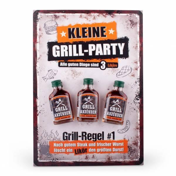 Kleine Grill-Party mit 3 Schnapserl