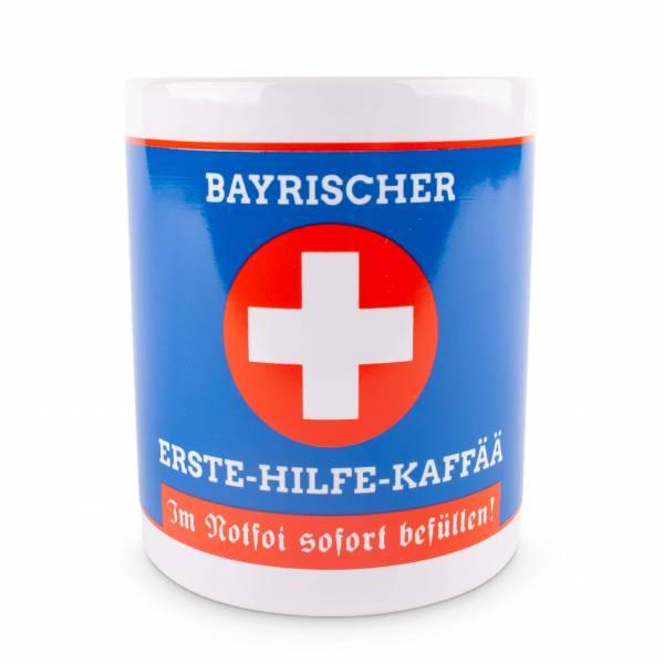 """Tasse """"Boarischer Erste-Hilfe-Kaffää"""""""