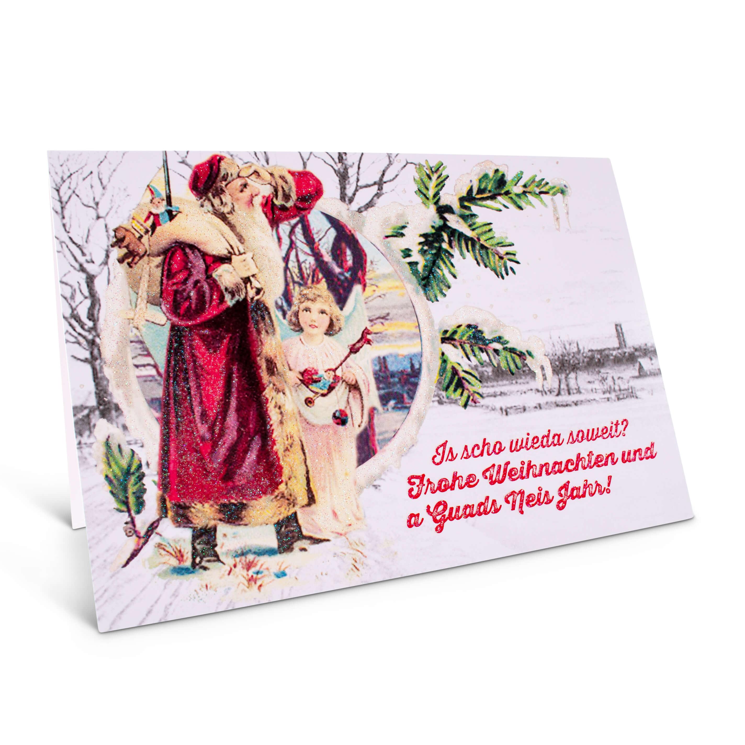 Karte Frohe Weihnachten.Weihnachtskarte Frohe Weihnachten Guads Neis